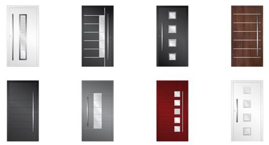 Porte d'entrée aluminium superior NEOFEN MULHOUSE ALSACE HAUT-RHIN